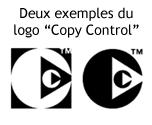 Deux exemples du logo Copy Control