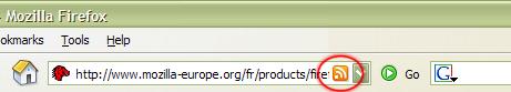 Icône RSS dans Firefox