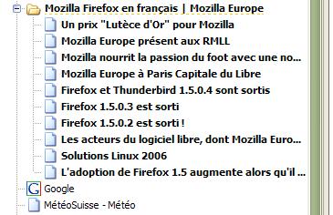 'Marque-page dynamique' dans Firefox